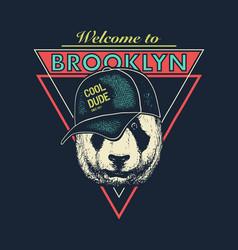 vintage urban typography t-shirt graphics vector image