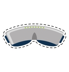 Vr glasses device gadget line vector
