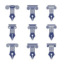 column set 9 vector image vector image
