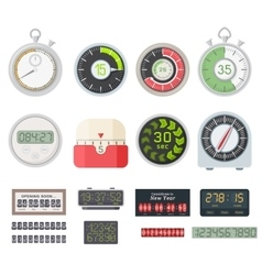 Timer clocks set vector image vector image