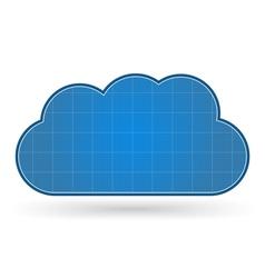 Blueprint Cloud vector image