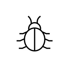 bug icon vector image vector image