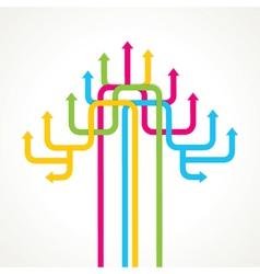 colorful arrow tree design vector image