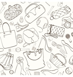 Fashion cosmetic pattern vector image vector image