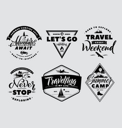 labels set of adventure and nature explore vector image