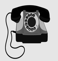 Old Phone EPS10 vector image