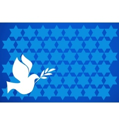 peace pigeon on blue background vector image vector image