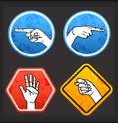 Sign language signs vector image