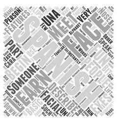 Spanish basicsthe face word cloud concept vector