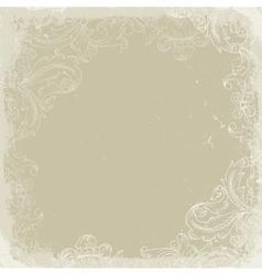 Vintage background beige vector