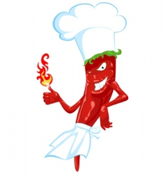 chili chef vector image vector image