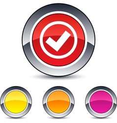 mark round button vector image vector image