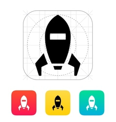 Spaceship icon on white background vector image