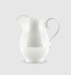 White pitcher isolated on grey background vector image