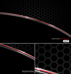 Black n Chrome Automotive Background vector image