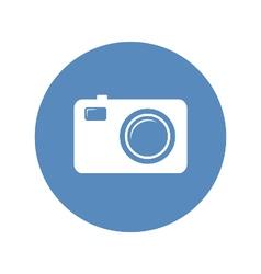 Photo camera icon in blue circle vector image vector image