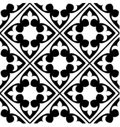 spanish and portuguese tile pattern moroccan vector image vector image