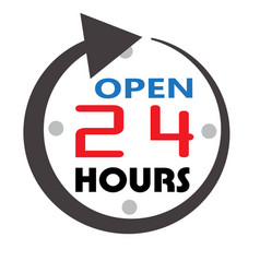 24 hour service open 24 hours icon 24 hours open vector