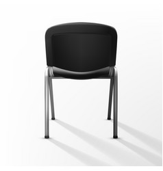 3d modern office chair black cloth back view vector