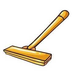 A yellow mop vector