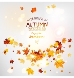 Abstract fall background vector
