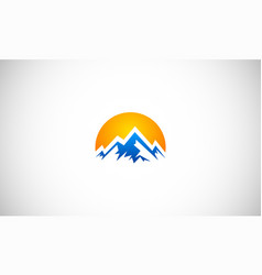 abstract high mountain logo vector image