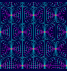 Abstract seamless pattern neon geometric vector