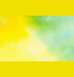abstract yellow green watercolor background vector image