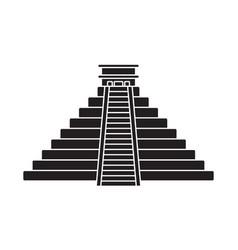 Ancient el castillo pyramid kukulkan pyramid vector