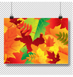 autumn banner isolated transparent background vector image