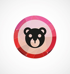 bear toy circle pink triangle background icon vector image vector image