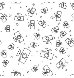 Black car dvr icon isolated seamless pattern on vector
