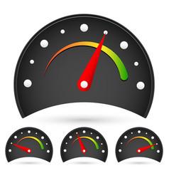 Black dial vector
