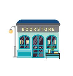Bookstore flat bookshop vector