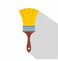 brush icon flat style vector image