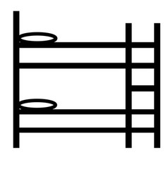 bunk bed icon vector image