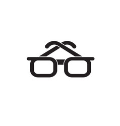 businessman glasses black concept icon vector image