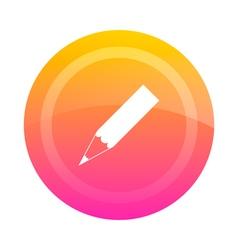 Button pencil vector image