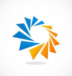 circular geometry spark 2D logo vector image