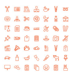 clip icons vector image