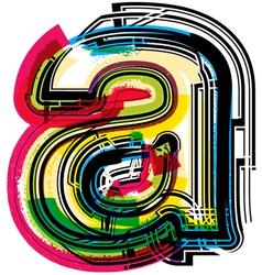 Colorful Grunge font LETTER a vector