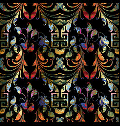 colorful ornamental paisley seamless pattern vector image