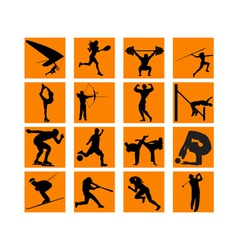 different sports vector image