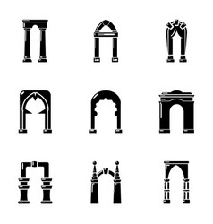 Dome icons set simple style vector