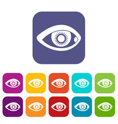 eye icons set vector image