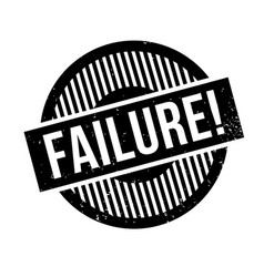 failure rubber stamp vector image