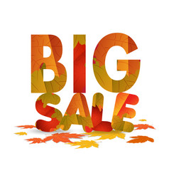Fall sale design autumn discount for advertising vector