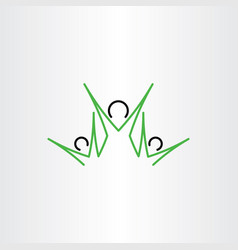 Family icon mother and children symbol sign vector