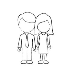 Figure couple sticker icon vector