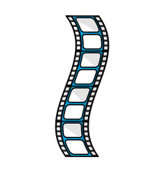 Filmstrip to studio scene in projection vector